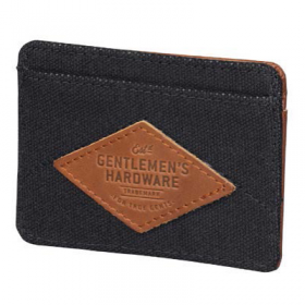 Charcoal Canvas Card Holder