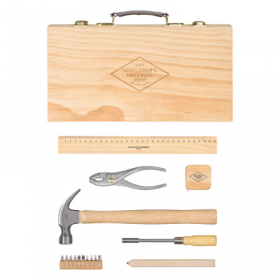 Tool Kit in Pine Wood Box
